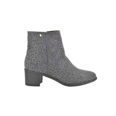 Fabs Grey Animal Print Boots