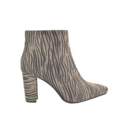 Fabs Taupe Zebra Print Boots