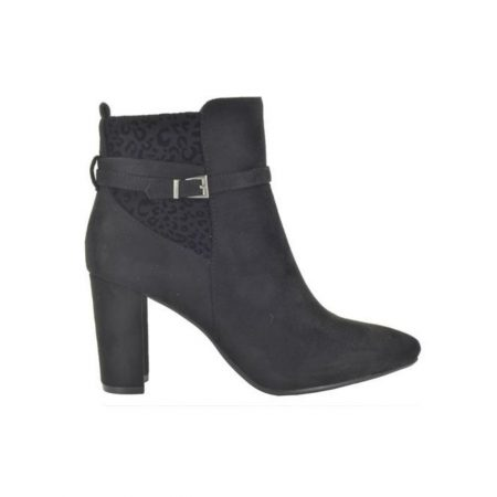 Fabs Black Animal Print Boots