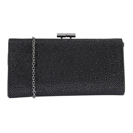 Lotus Chandra Black Gem Clutch
