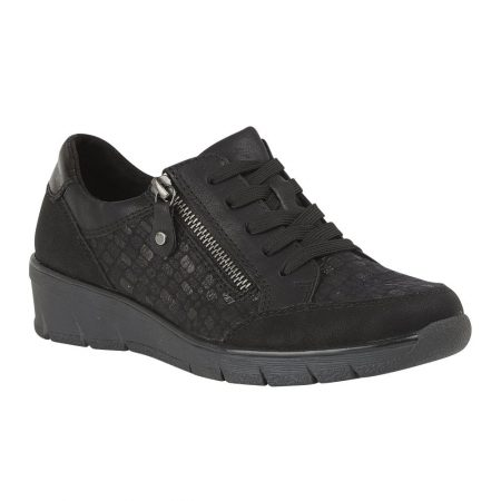 Lotus Relife Charlotte Black Trainers