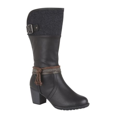 Lotus Jamilla Black Long Boots