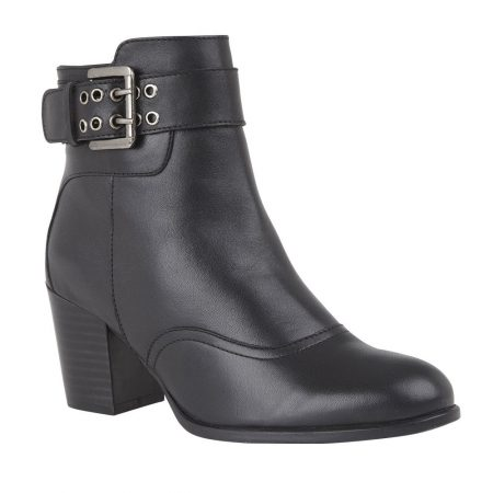 Lotus Lark Black Leather Boots