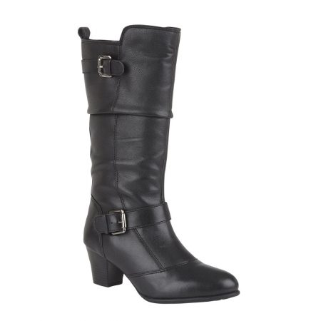 Lotus Miriam Black Long Boots