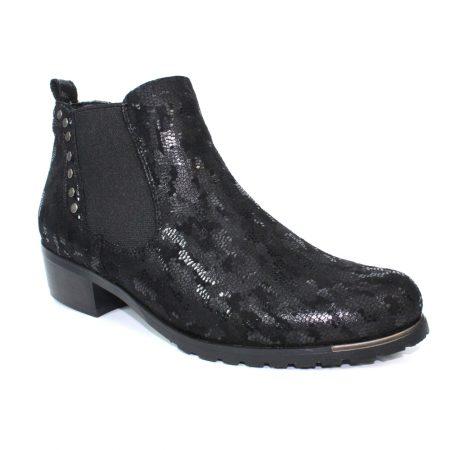 Lunar Candice Black Print Boots