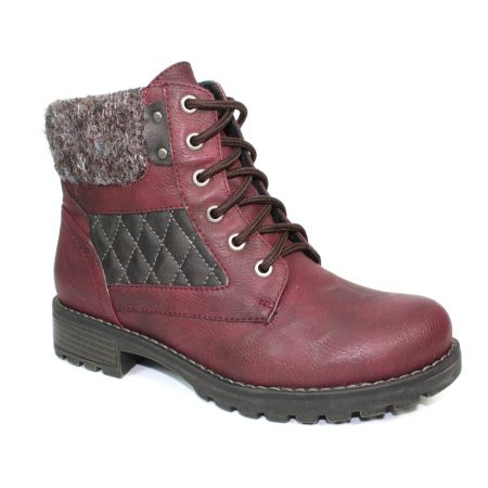Lunar Chariot Burgundy Ankle Boots