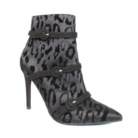 Lunar Glam Black Animal Print Boots