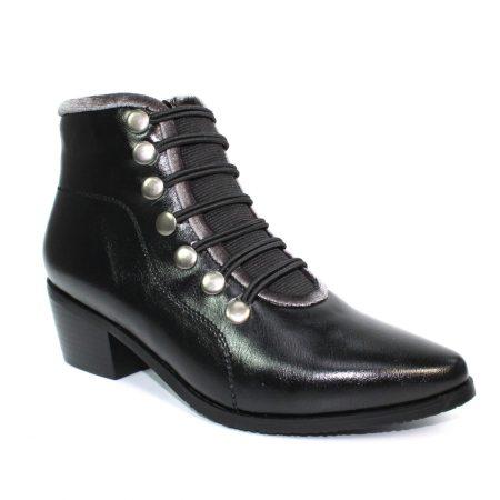 Lunar Napoleon Black Ankle Boots