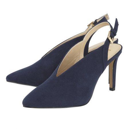 Lotus Isobel Navy Heels