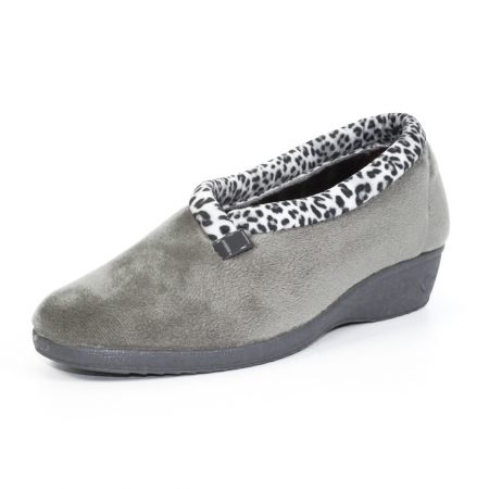 Lunar Paloma Grey Wedge Slippers