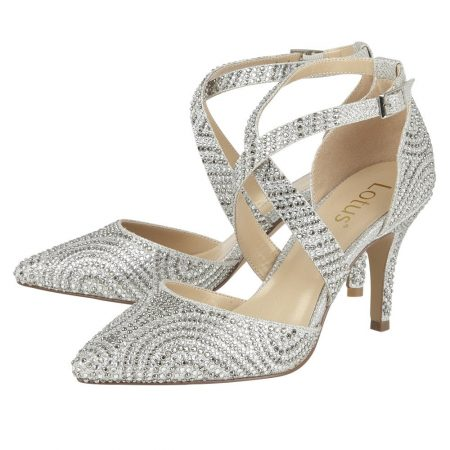 Lotus Latoya Silver Gem Heels