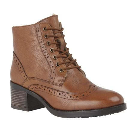 Lotus Amira Tan Leather Boots