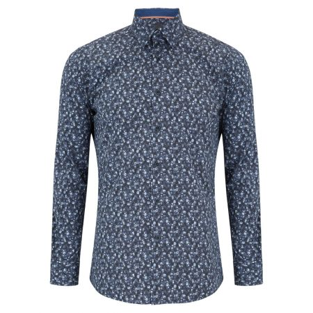 Douglas Blue Floral Print Shirt