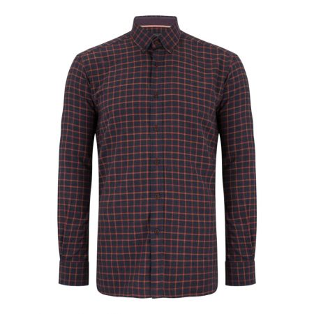 Douglas Navy Check Cotton Shirt