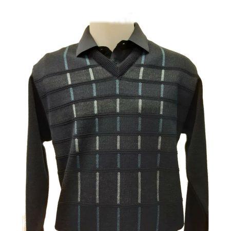 Gabicci Navy Patterned Sweater