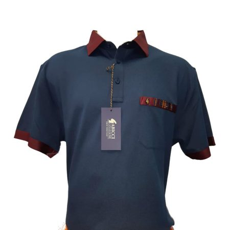 Gabicci Navy Cabernet Sports Shirt