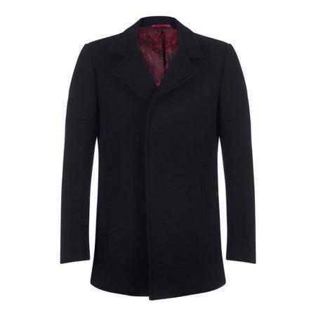Remus Uomo Lohman Black Wool Coat
