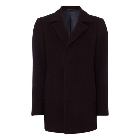 Remus Uomo Lohman Wine Wool Coat