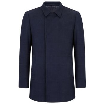 Remus Uomo Lohman Navy Wool Coat