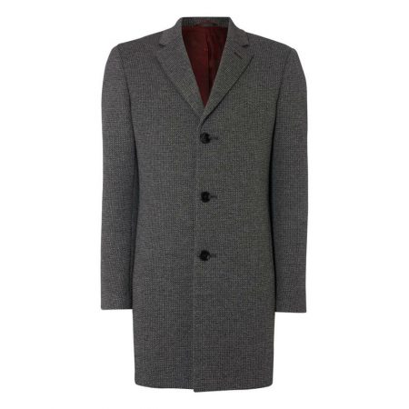 Remus Uomo Rueben Grey Wool Coat