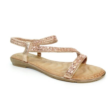 Lunar Blaise Rose Gold Sandals