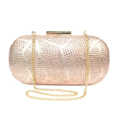 Lunar Francie Rose Gold Evening Bag