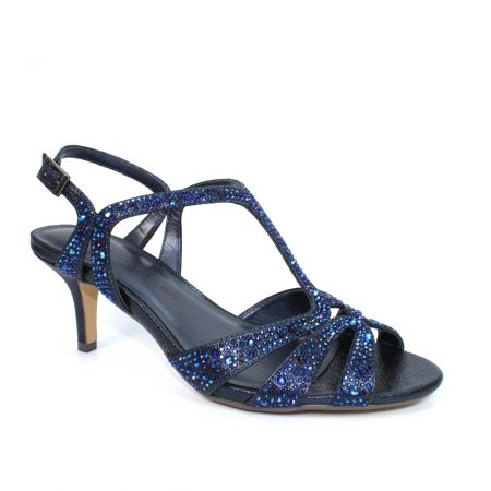 Lunar Francie Navy Blue Heeled Sandals