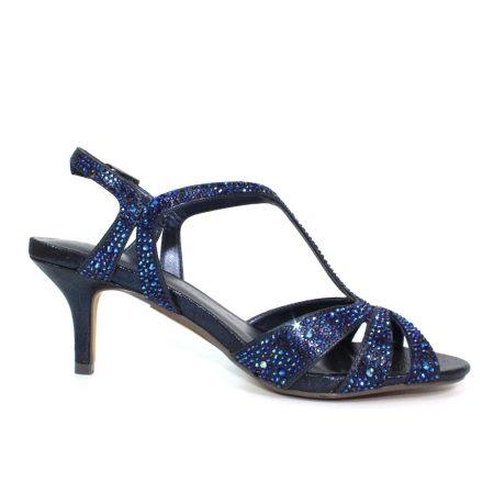 Lunar Francie Navy Blue Heeled Sandals