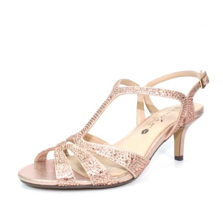 Lunar Francie Rose Gold Heeled Sandals