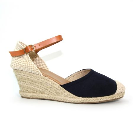 Lunar Jessie Navy Wedge Espadrille Sandals
