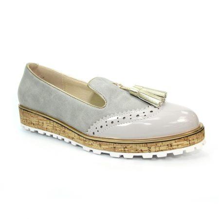 Lunar Michaela Grey Loafer Shoes