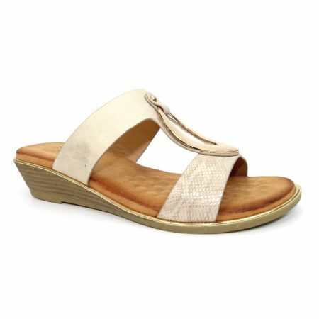 Lunar Pennita Beige Wedge Sandals