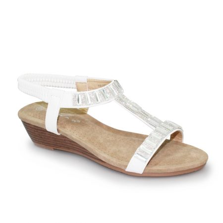 Lunar Reynolds White Wedge Sandals
