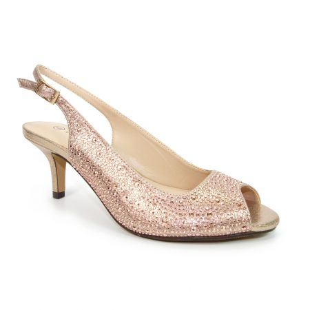 Lunar Sense Rose Gold Kitten Heels