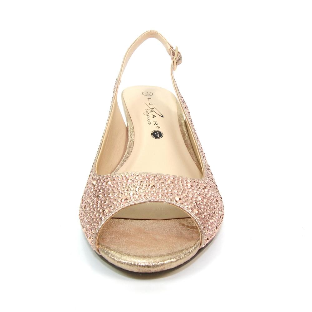 gold kitten heels wide fit discount