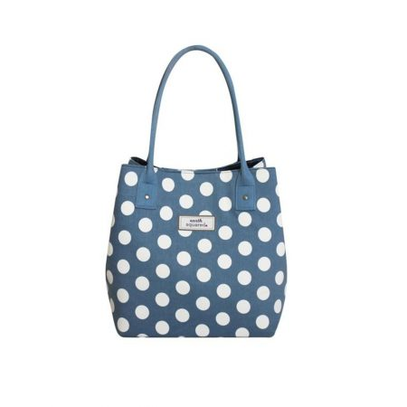 Earth Squared Blue Spotty Canvas Tote
