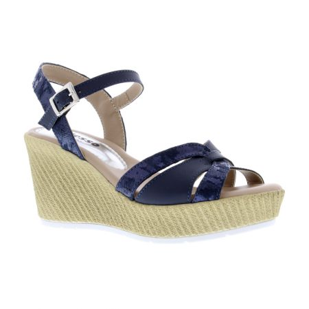 Adesso Sinead Navy Wedge Sandals