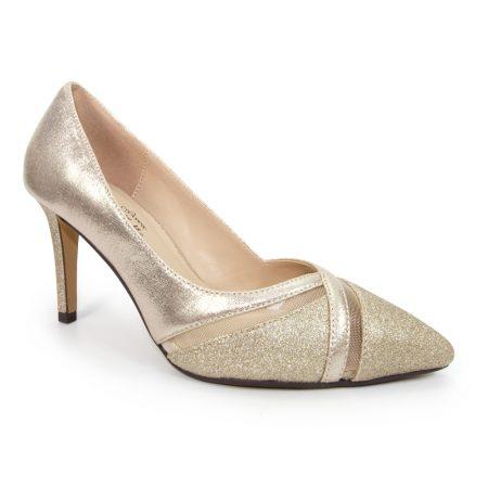 Lunar Joelle Metallic Gold Heels