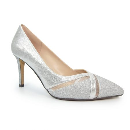 Lunar Joelle Metallic Silver Heels