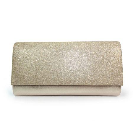 Lunar Joelle Metallic Gold Evening Bag
