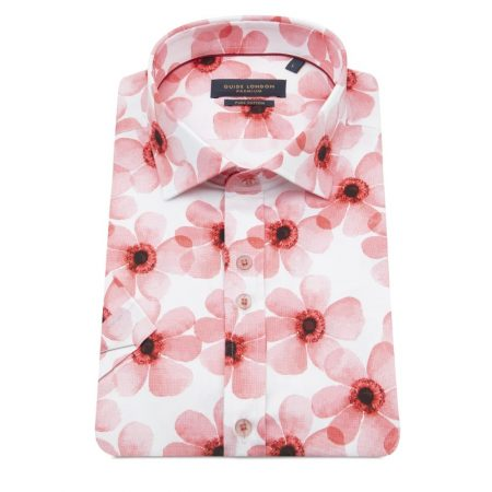 Guide London pink short sleeve shirt