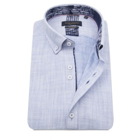 Guide London sky blue short sleeve shirt