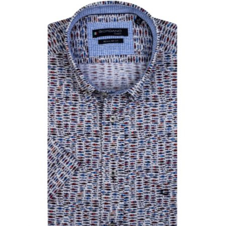 Giordano pattern short sleeve shirt