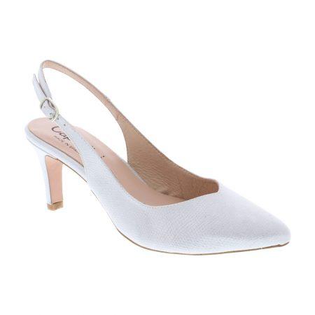 Capollini Catherine Light Silver Heels