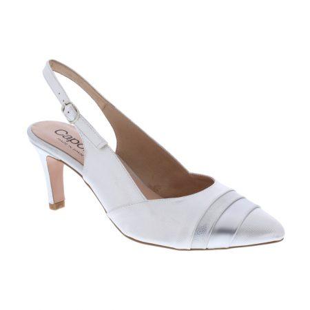 Capollini Laura Metallic Silver Heels