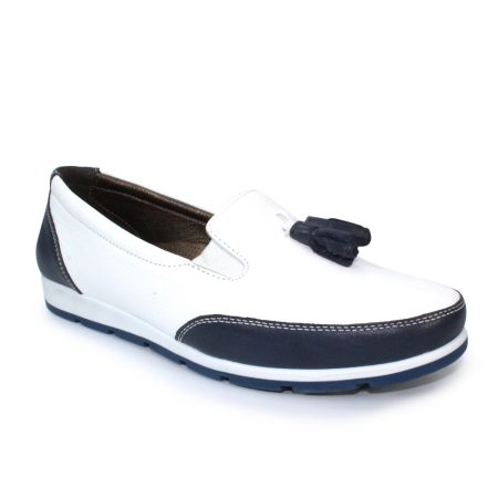 Lunar Belinda Navy Leather Loafers