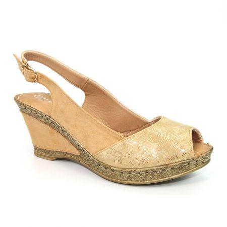 Lunar Binks Beige Wedge Sandals