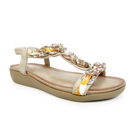 Lunar Cedar Beige Chain Sandals