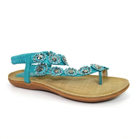 Lunar Charlotte Turquoise Flat Sandals