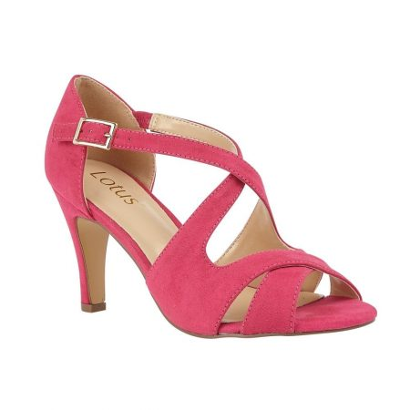 Lotus Sadia Fuchsia Pink Heels